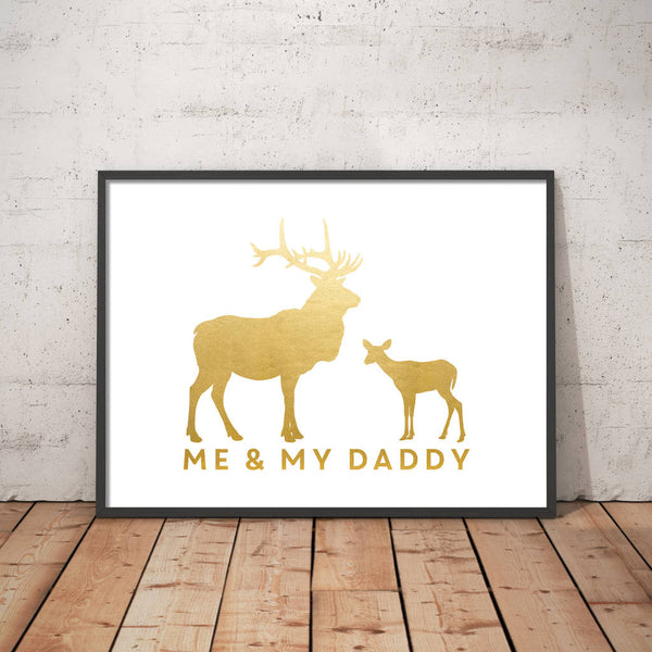 Personalised Me And Dad Stag Print