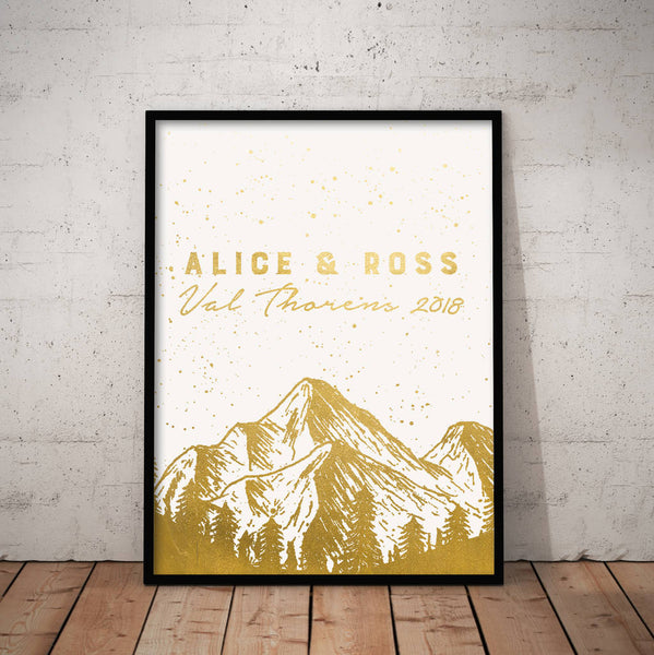 Personalised Metallic Adventure Print