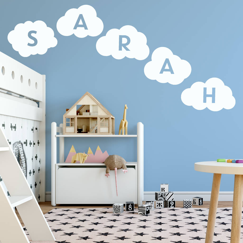 Personalised Cloud Wall Sticker