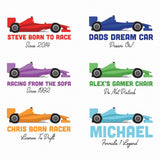 Personalised Race Car Cushion
