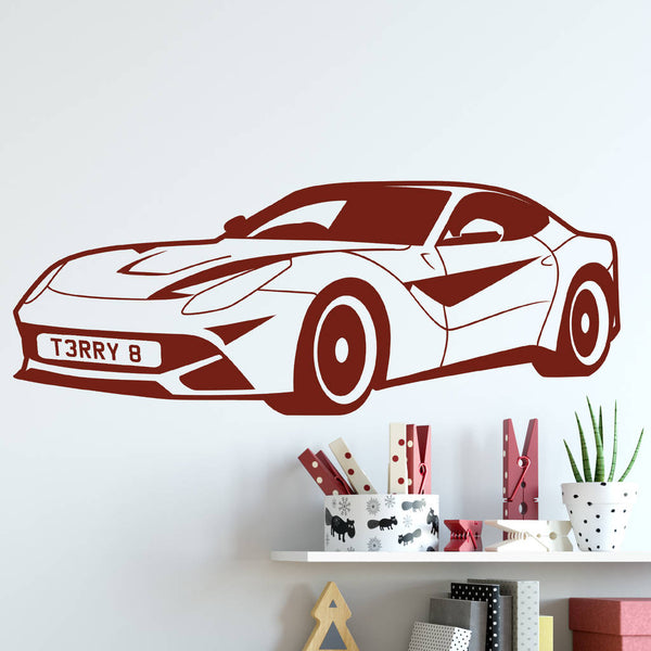 Personalised Race Car Wall Sticker