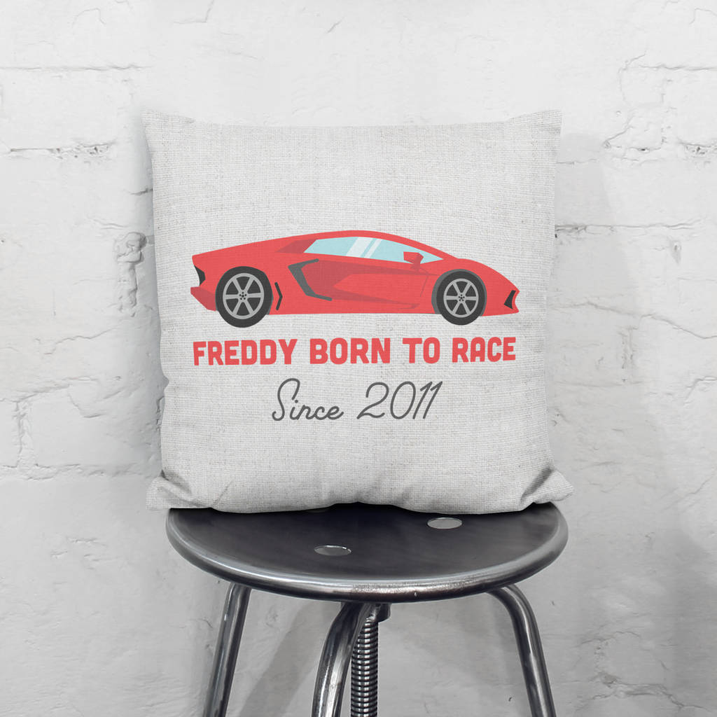 Personalised Sports Car Cushion