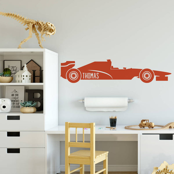Personalised Racing Car Wall Sticker
