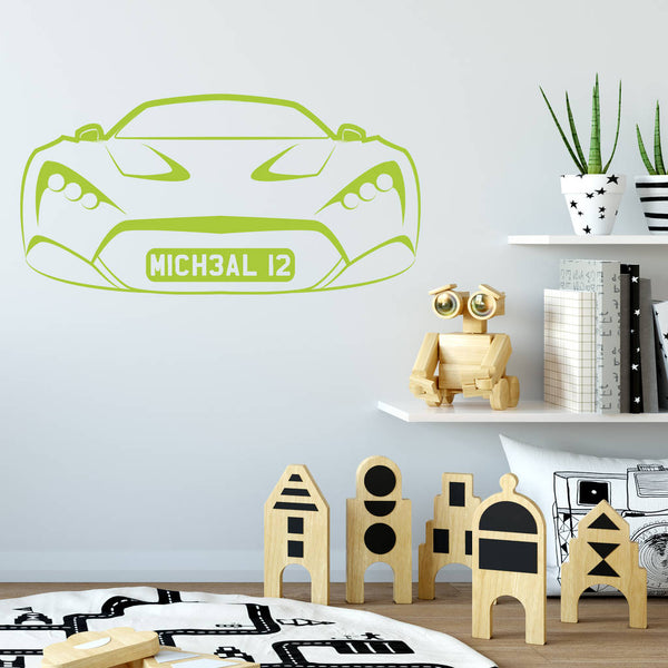Personalised Sports Car Wall Sticker