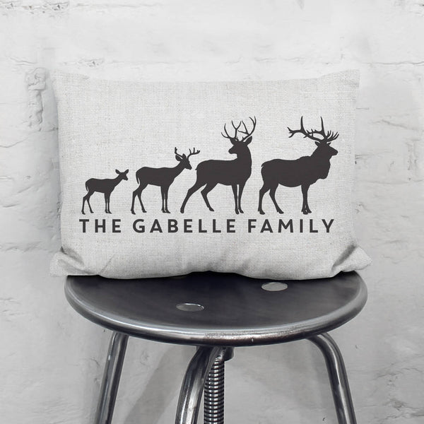 Personalised Stag Family Cushion