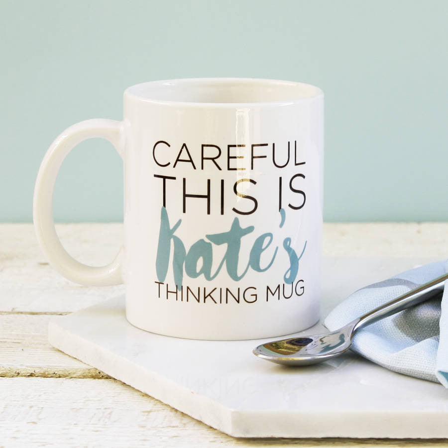 Personalised Thinking Mug