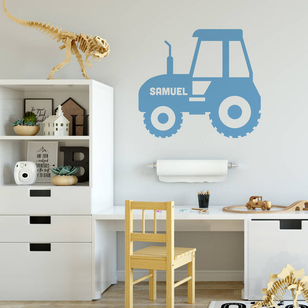 Personalised Tractor Wall Sticker