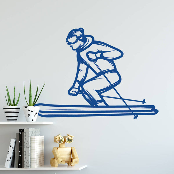 Skier Wall Sticker