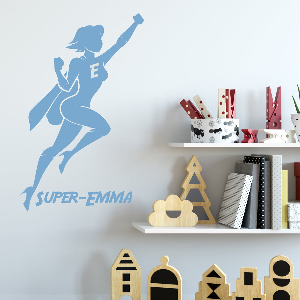 Super Hero Girls Room Wall Sticker