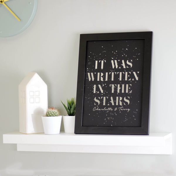 Personalised Metallic Written In The Stars Print