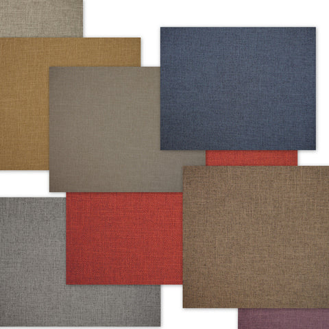 selection of Crisp upholstery fabrics in a variety of colours