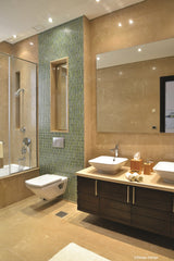 Natural Zen show home - master bathroom