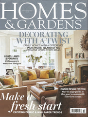 Cover of the Homes&Gardens October 2015, featuring this Victorian terraced house