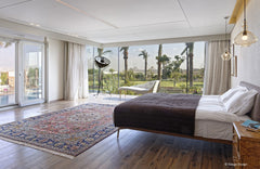 Master bedroom with a stunning view of the pyramids