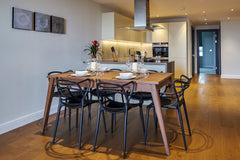 View from Dining table to kitchen