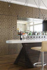 Entertainment area with a bespoke made bar by Encode Design