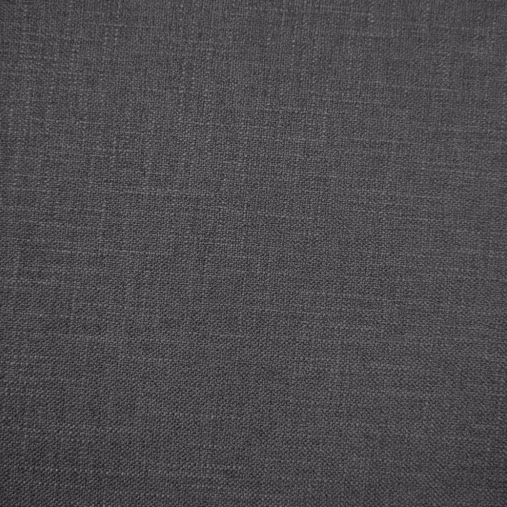 Crisp Noir- 1255 faux linen washable upholstery fabric