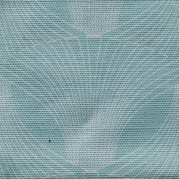 Close up of Edfu Flower Aqua fabric
