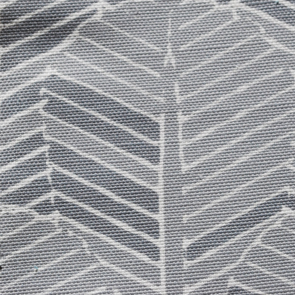 Close up of Edfu Palm Shades of Grey fabric