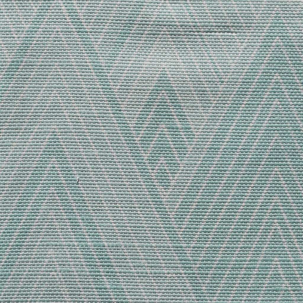 Close up of Edfu Pyramids Aqua fabric