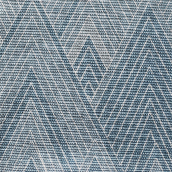 Close up of Edfu Pyramids Denim Blue fabric