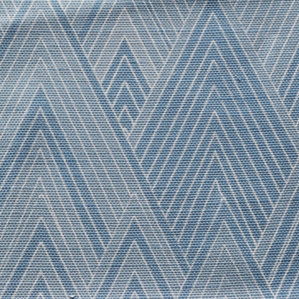 Close up of Edfu Pyramids Light Blue fabric