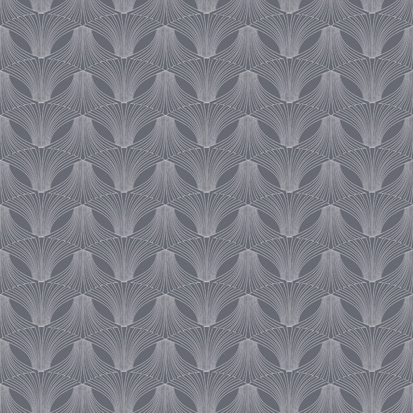 Fabric Edfu Flower Coal design