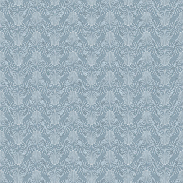 Fabric Edfu Flower Light Blue design