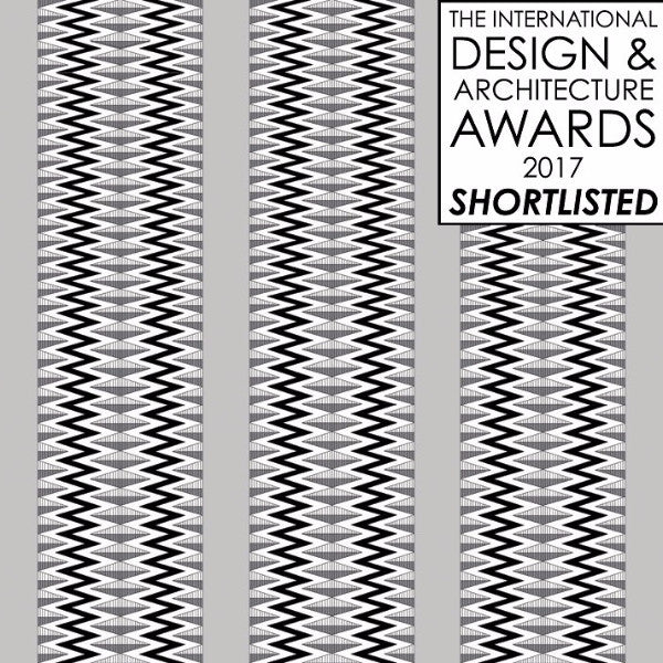 Flow Charcoal Shortlisted in the category Wall coverings at the International Design and Architecture Awards 2017