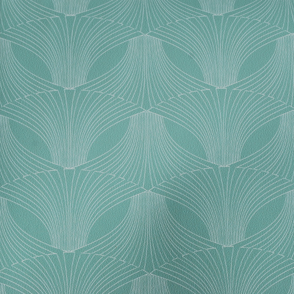 Close up of Edfu Flower Aqua wallpaper