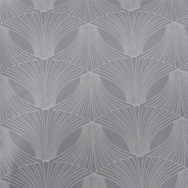 Close up of Edfu Flower Ice Grey wallpaper