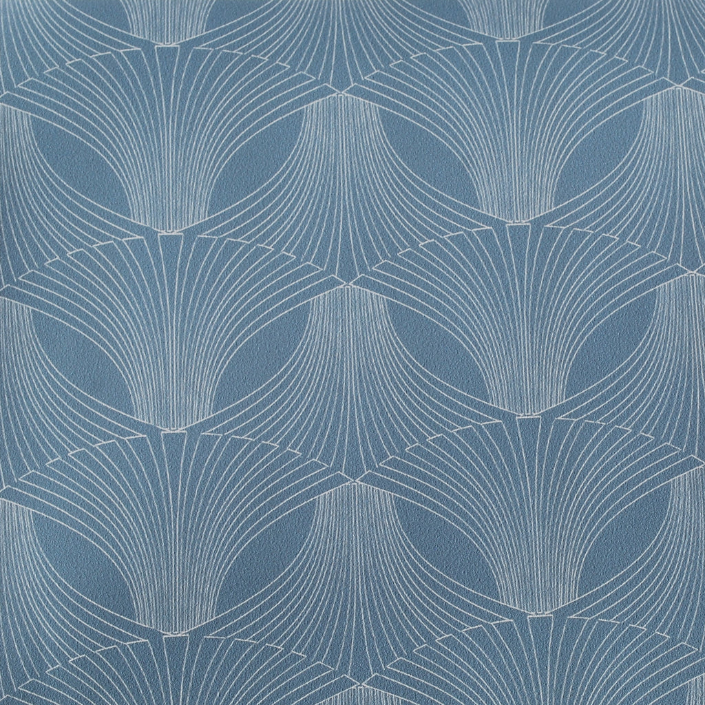 Close up of Edfu Flower Light Blue wallpaper