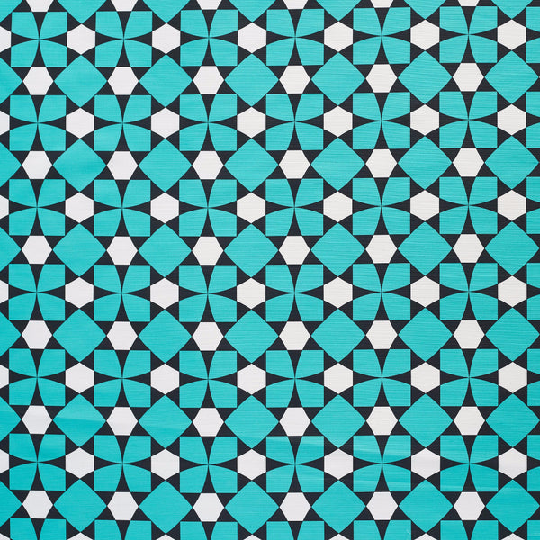 Inlay turquoise design fabric