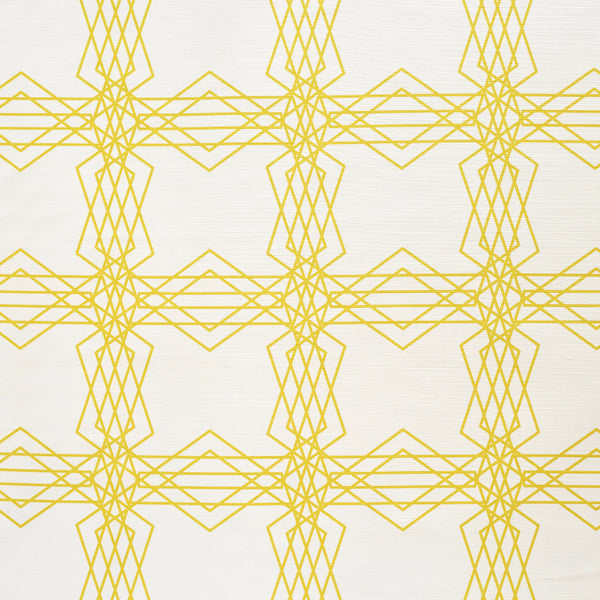 Intersecting Stars Ochre design fabric