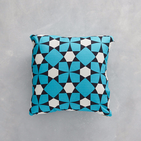 Image of the Inlay Turquoise fabric used as a cushion cover