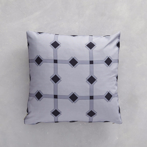 Almaz Grey fabric used as a cushion cover