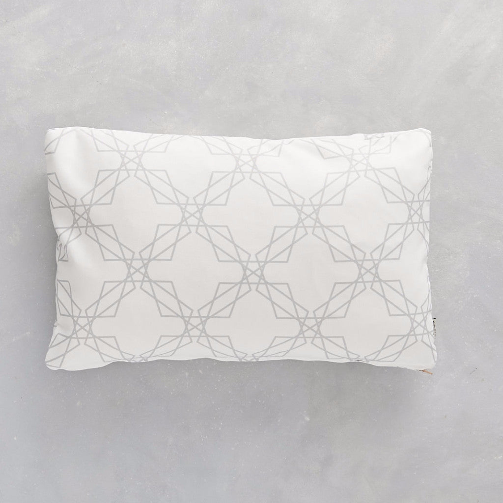 Cushion cover Stars Grey & White Rectangular