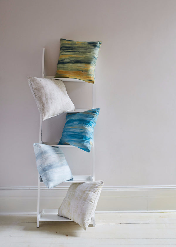 Throw pillows made with Safari collection fabrics