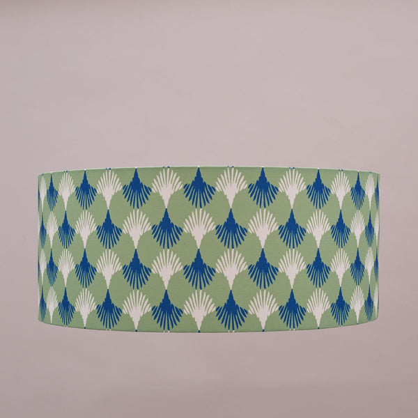 Lampshade made with Lotus Emerald fabric