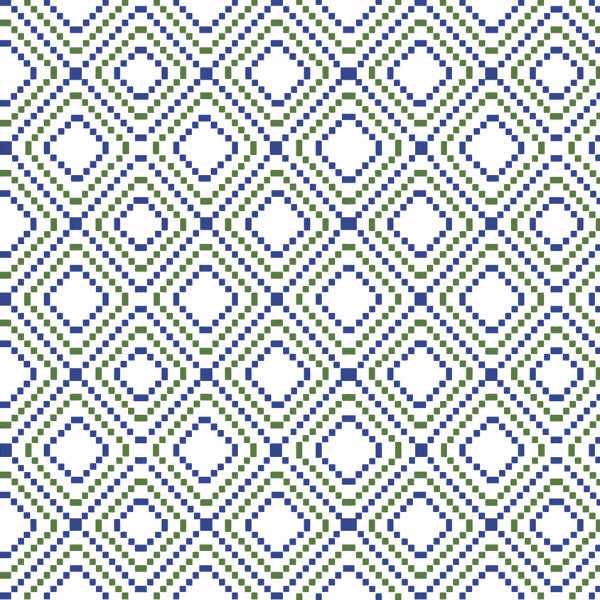 Fabric: Kilim: Diagonal Nile Blue