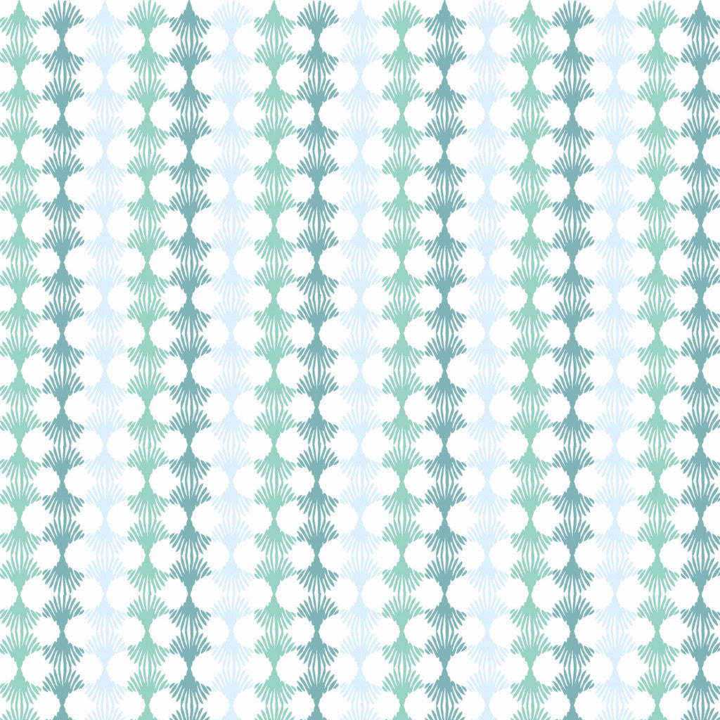 Fabric: Lotus: Blue & Green