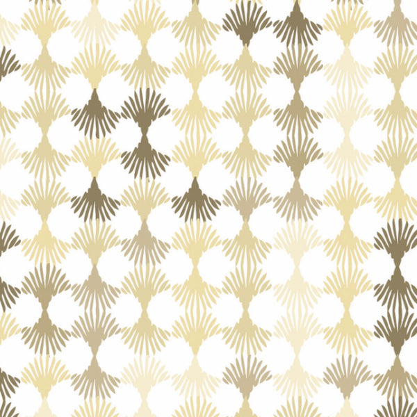 Wallpaper: Lotus White & Beige