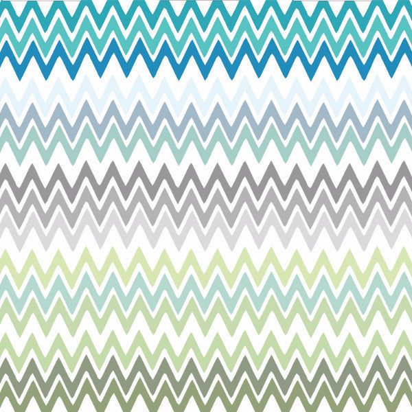 Fabric: Nile: Zigzag Aqua