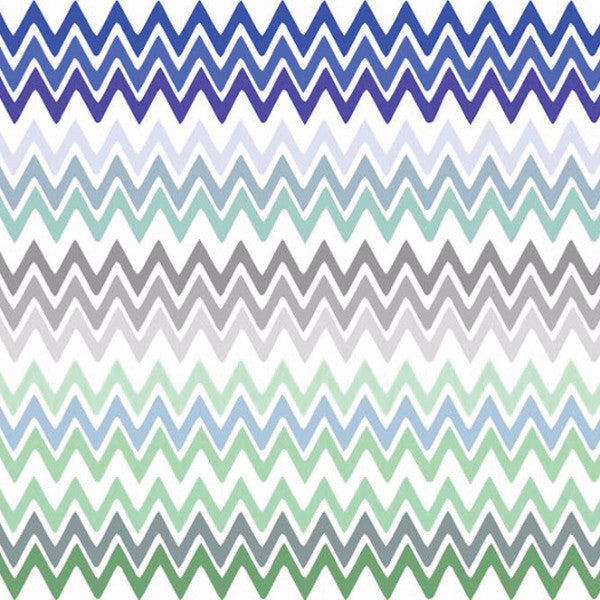Fabric: Nile: Zigzag Blue