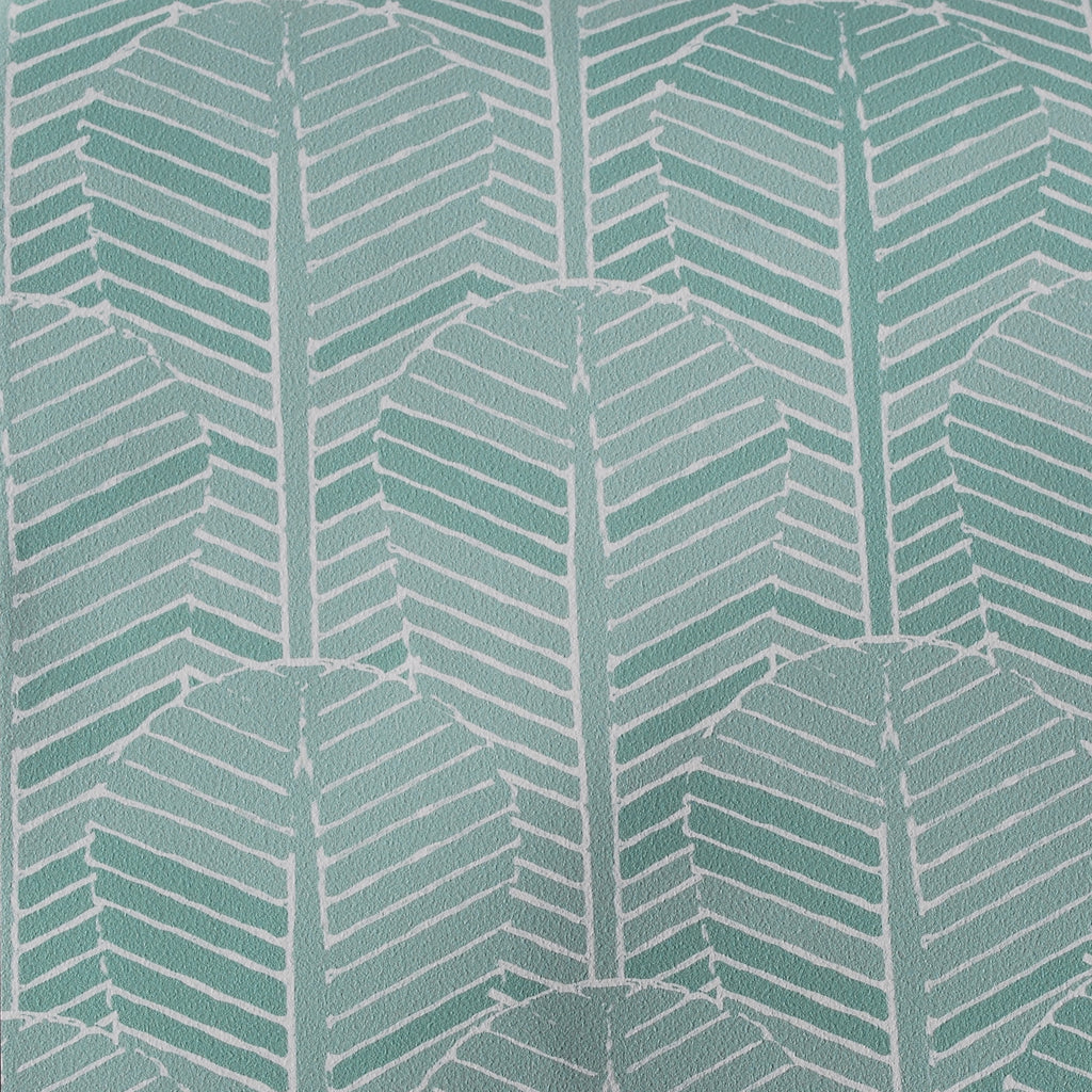 Close up of Edfu Palm Aqua wallpaper
