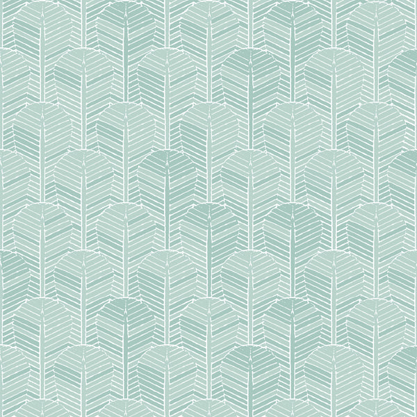 Fabric Edfu Palm Aqua design
