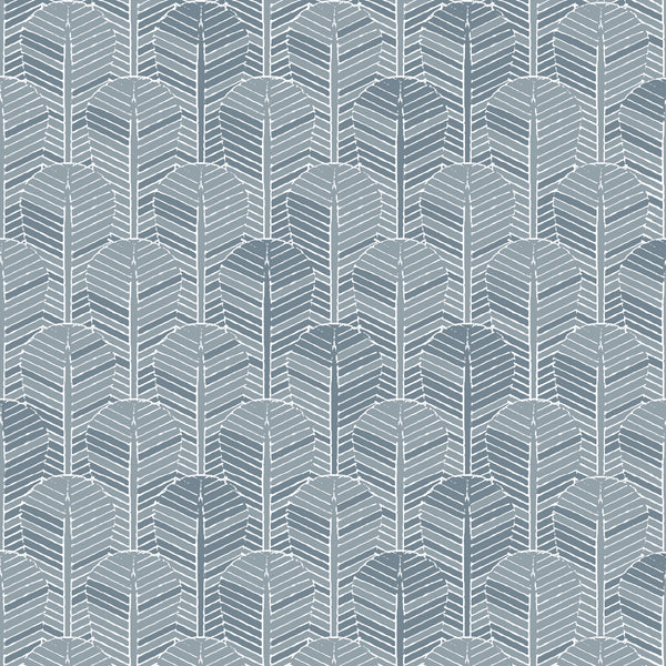 Fabric Edfu Palm Denim Blue design