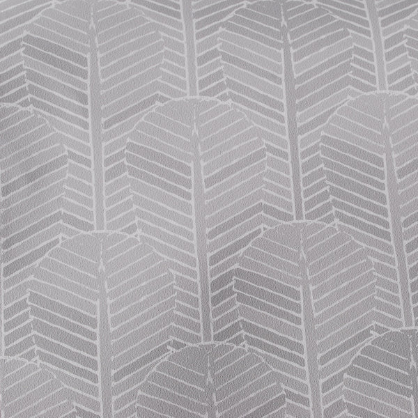 Close up of Edfu Palm Ice Grey wallpaper
