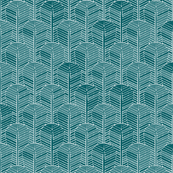 Fabric Edfu Palm Kingfisher design