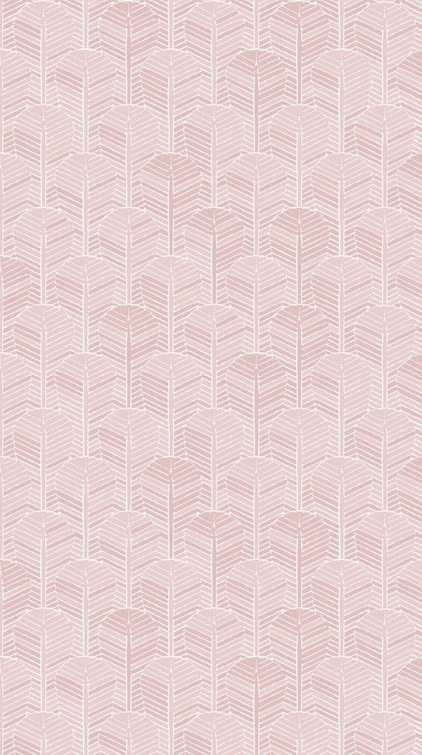 Full width of Edfu Palm Dusty Pink wallpaper